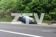 Clujean neatent, accident spectaculos pe Meseș