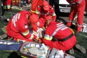 """Din cauza unui șofer """"cu capul în nori"""", trei muncitori au fost răniți"""