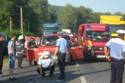 Accident grav pe un drum din județul Cluj