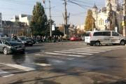 FOTO/VIDEO - Accident teribil  cu mașina Poliției în centrul Clujului. Trei persoane au ajuns la spital
