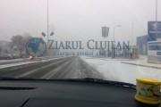 FOTO/VIDEO- ATENȚIE  șoferi! Calea Turzii și alte străzi s-au transformat în patinoar. Reacția Primăriei Cluj-Napoca este FABULOASĂ!