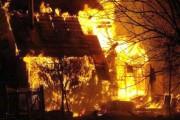 Incendiu violent în noaptea de Anul Nou