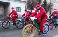 La Cluj-Napoca, magia Crăciunului vine pe bicicletă