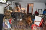 VIDEO - Deflagrație  la o casă din Gherla! O centrală a explodat și un bărbat a murit ars de viu