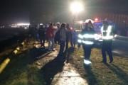 Doar beat sau drogat? Accident cu mașină înfiptă într-o țeavă de gaz din Turda