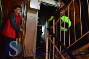VIDEO - EXPLOZIE devastatoare din neglijență, la un bloc din Gherla. O persoană a ajuns la spital