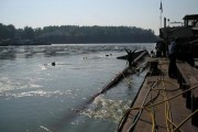Dunărea a fost poluată pe o suprafață mare