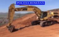 VIDEO - Autostrada Transilvania cu utilaje FURATE  se construiește. Ce au găsit polițiștii pe șantier