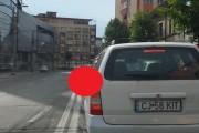 VIDEO - Țăran de oraș în centrul Clujului! Tu faci așa ceva în trafic?