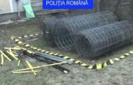 Autostrada Transilvania în vizorul hoților! Sârme și stâlpi metalici au vrut să fure indivizii prinși în flagrant