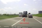 VIDEO - Șoferi sinucigași sau criminali? Iată cum conduce această specie un TIR pe șoselele Clujului