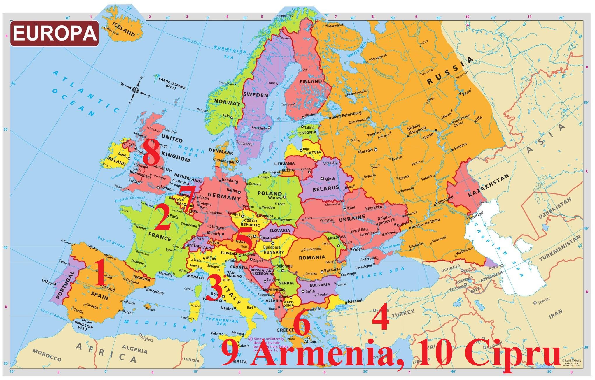Harta Europa Ziarul Clujean