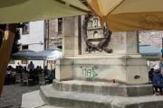 O statuie din Cluj-Napoca a fost vandalizată
