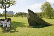 INEDIT - O sculptură masivă din lemn reciclat se construiește la Cluj pentru 18+ festival