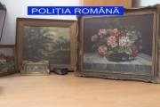 VIDEO - Bărbaţi reţinuţi de poliţiştii clujeni pentru furtul unor tablouri şi obiecte din argint