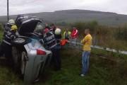 Accident grav pe un drum din județul Cluj