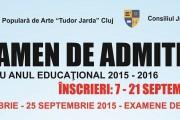 """Începe admiterea la Şcoala Populară de Artă """"Tudor Jarda"""" pentru anul şcolar 2015-2016. Toate detaliile AICI!"""