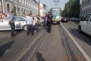 FOTO - Tramvaie blocate pe strada George Barițiu din cauza unor șoferi nesimțiți