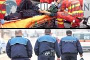 Cum înțelege Poliția Cluj să NU ajute motocicliștii, loviți din toate părțile. Cortegiul funerar cu 50 de motocicliști și un coșciug, nepăsare pentru agenți