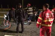 UPDATE - Accident HORROR la Gilău! O mașină a intrat sub un TIR, trei persoane încarcerate