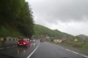 VIDEO - Accident surprins LIVE în județul Cluj. Ce a pățit un șofer