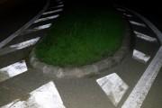 FOTO - Motociclist din Cluj-Napoca, la un pas de moarte din cauza drumului nesemnalizat