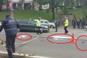 VIDEO - Tânără SPULBERATĂ  de o mașină în Mănăștur. Hainele și papucii i-au rămas pe asfalt