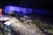 VIDEO - Unul dintre băieții lui Silviu Prigoană, accident spectaculos pe un drum din Cluj