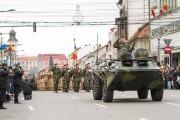 Peste 500 de militari, paradă la Cluj-Napoca de 1 Decembrie