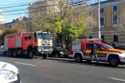 FOTO - Panică în centrul Clujului. Pompierii au intervenit de urgență