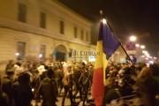 VIDEO - Joi, o altă seară cu proteste în Cluj! Momentul cel mai emoționant al marșului