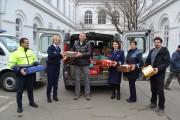 FOTO - Polițiștii din Cluj, implicați în campania Shoe Box Blythswood. Benevol, au făcut 140 de cadouri