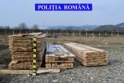 Polițiștii clujeni, acțiune în Alba. Au confiscat la limita județului cherestea în valoare de 11.000 de lei