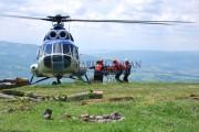 Misiune umanitară  cu elicopterul Unității Speciale de Aviație Cluj-Napoca