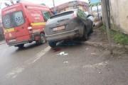 FOTO - Pieton beat, accident pe strada Constantin Brâncuși