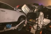 VIDEO - Accident cu 70 de mașini, un român a murit și altul a fost rănit