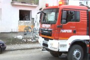 FOTO - Explozie urmată de incendiu, la Turda