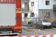VIDEO - EXPLOZIE urmată de incendiu la un apartament din Grigorescu. Chiriașa, în stare critică