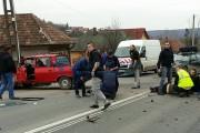 FOTO - Accident grav la Feleacu, două persoane au ajuns la spital