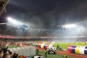 UPDATE - FOTO -  Incendiu pe Cluj Arena, la meciul România-Spania. Panica s-a instalat printre suporteri