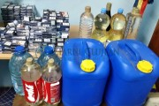 Țigări și alcool fără acte, confiscate de polițiști și inspectorii DSV