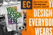 Propune un design pentru tricourile ELECTRIC CASTLE și trăiește experiența VIP a festivalului
