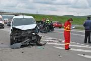 GALERIE FOTO - Accident grav la intrare în Gilău! Cinci persoane au ajuns la spital