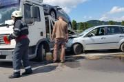 FOTO - Accident la Praktiker! Manevra unui șofer din Covasna putea lua viața unui clujean