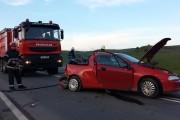 FOTO - Accident grav lângă Turda, trei răniți și două autovehicule distruse