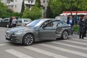 FOTO - Accident în Mărăști, BMW proiectat de o