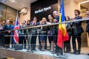 FOTO - Bursa londoneză, deschisă astăzi de Ministrul Finanțelor Publice