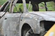 FOTO - Un Audi s-a făcut scrum la Feleacu, pompierii nu au mai salvat nimic