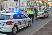 FOTO – Femeie accidentată în centrul Clujului de un taximetru