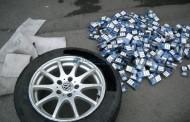 FOTO - Peste 5000 de țigări de contrabandă descoperite într-o roată